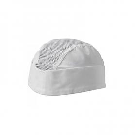 Bustina bianca in tessuto con intarsi in rete