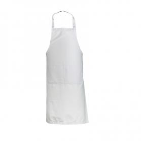 Grembiule bianco in 100% cotone certificato