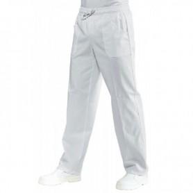 Pantalone bianco in 100% cotone certificato con elastico in vita