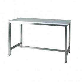Tavolo in acciaio inox con piano in polietilene spessore 25 mm