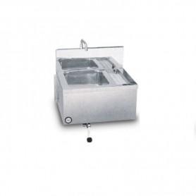 Lavello inox con sterilizzatore incorporato a parete