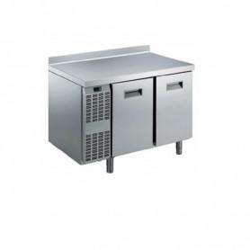 Tavolo refrigerato 2 vani in acciaio inox con motore